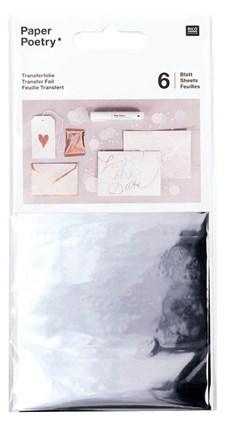 Överföringsfolie, silver 6 pack, 90 x 150 mm