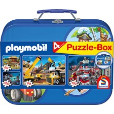 Playmobil Puzzle Box 2x60 palaa ja 2x100 palaa Schmidt
