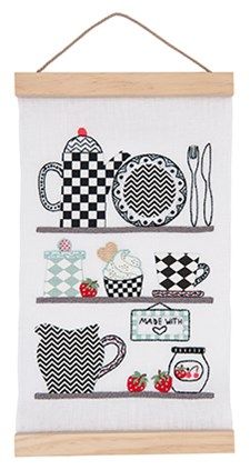 Kirjonta taulu keittiöhyllyillä sarja 20 x 40 cm