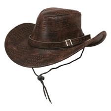 Cowboyhatt Brun Slangeskinn