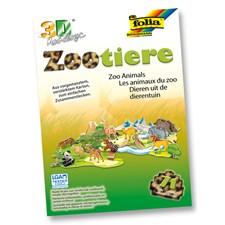 3D modeller i papper Zoo djur 71 delar
