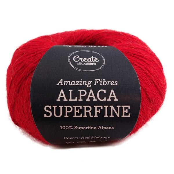 Adlibris Alpaca Superfine 50g Cherry Red Melange A212