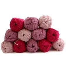 Lankapakkaus Adlibris Cotton lanka 100g Pink Delight 12 kpl