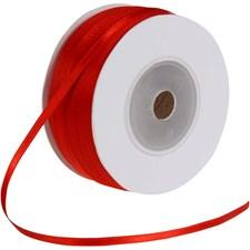 Satiininauha, lev. 3 mm, 100 m, punainen