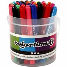 Colortime Tusj - sortiment, strektykkelse: 5 mm, ass. Farger, 42stk.