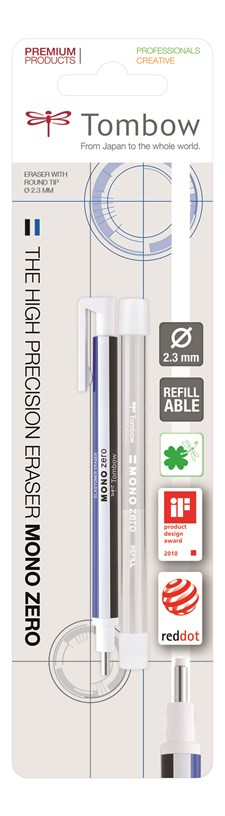 TOMBOW Viskelærpenn Zero Ø 2.3mm blister