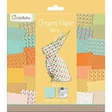 Origami Papper Vår, 20 x 20 cm, 60 ark, 70 g