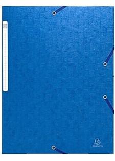 Gummibandsmapp 3-Klaffar A4 Blå