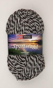 Viking of Norway Sportsragg Garn Ullmix 50g Grå/svart/vit 580