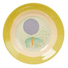 Dyp tallerken, Animal, Lys mintgrønn, Rice