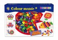 Pysselset hålplatta med färgglada plastploppar Playbox