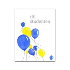 Gratulationskort Student med Snöre 6x8 cm Ballonger