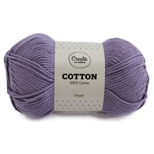 Adlibris Cotton Garn 100g Purple A128