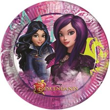 Disney Descendants Papptallrikar, 8 st
