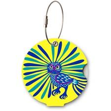 Addatag bagagetag - Owl yellow