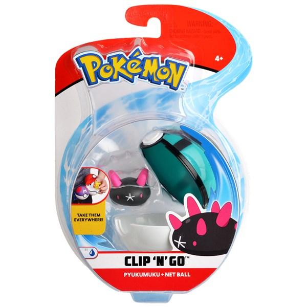 Pokémon Clip N Go  Pyukumuku & net ball - figurer & miniatyrer