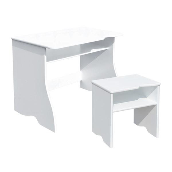 Skrivbord + pall  Vit  Room Studio - barnmöbler