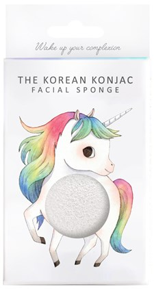 Konjac Sponge Mythical Unicorn Sponge and Hook - 100% konjac
