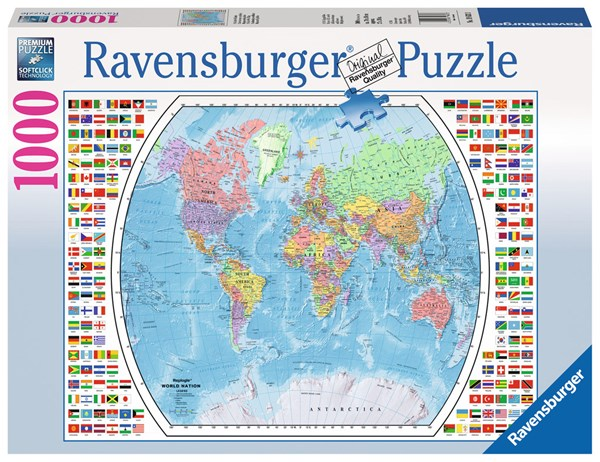 Political World Map, Puslespill 1000 biter, Ravensburger