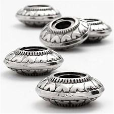 Ringperle, dia. 24 mm, hullstr. 7,5 mm, sølv, 5stk.