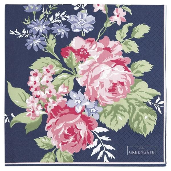 gröngate Servett rosa 20-pack 33x33 cm Mörk Blå (blå)