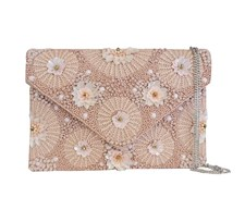 Clutch Meadow Beaded Pink
