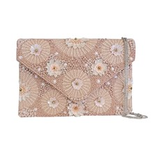 Clutch Meadow Beaded, Pink