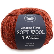 Adlibris, Soft Wool Tweed, 50 g, Rust A466