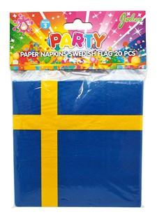 Servetter Svensk Flagga 20-pack