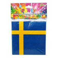 Servetit Ruotsin Lippu 20-pakkaus