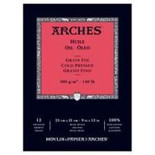 Arches -paperi öljyvӓrimaalausta varten 300 g 23x31 cm 12 arkki (kylmӓpuristettu)
