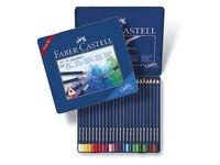Akvarellikynät Faber- Castell 24 väriä peltirasiassa