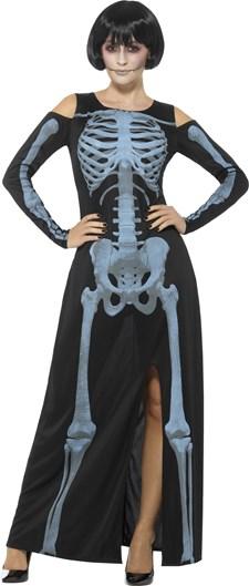 Skelettklänning Röntgen Maskeraddräkt