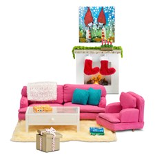 Småland Stue med åpen peis, 2-in-1, Special Edition, Lundby