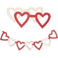 Sydänketjut, koko 5x5 cm, 120 g, 60 laj.