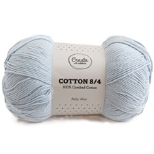 Adlibris Cotton 8/4 lanka 100g Baby Blue A178
