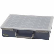 Raaco Multicase sortimentlåda, stl. 33,8x26,1 cm, H: 8 cm, 16 lösa fack , 1set, hålstl. 5,5x7,9x8 cm