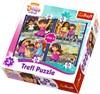 4-i-1 pussel, Dora & Friends, Trefl