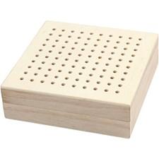Broderiaskar 10x10x3,2 cm Kejsarträ 1 sst
