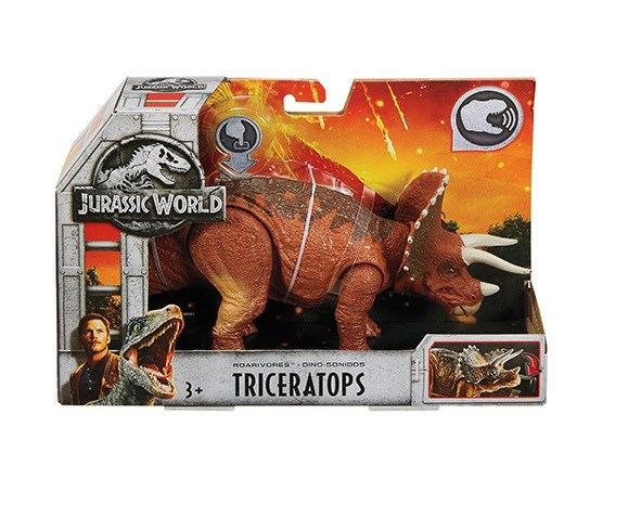 Jurassic World Dino med ljud  Triceratops - figurer & miniatyrer
