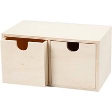 Byrå, stl. 9,2x17,7 cm, inv. mått 7,2x7,2 cm, 1 st., plywood
