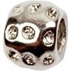 Fashion link, str. 8x10 mm, hullstr. 4 mm, 3 stk., antikk sølv