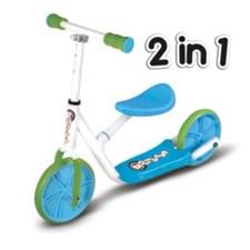 Balance bike scooter 2-in-1, Roller R2, Grønn/Blå