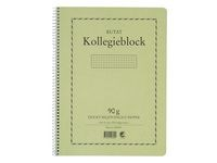 Kollegieblokk Miljømerket A4 Ruteark 90 g 70 Blad