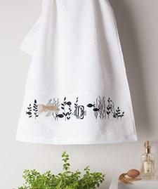 Broderi Handduk med fiskar set 50 x 100 cm
