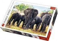 African elephants, Puslespill, 1000 brikker, Trefl