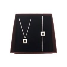 Smyckeset Pyramid Sterling Silver Giftbox