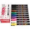 Uni Posca Marker, paksuus: 0,9-1,3 mm,  PC-3M , värilajitelma, fine, 12kpl