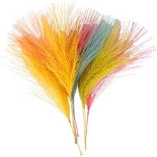 Konstgjorda fjädrar, L: 15 cm, B: 8 cm, mixade färger, 10st.