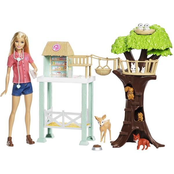 Barbies Trähus  Barbie - dockor & tillbehör
